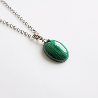 [Gem Series] Juno Goddess natural mineral malachite • necklace