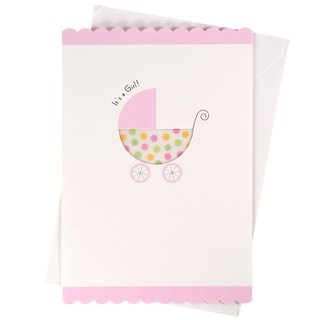 Girl's Exclusive Pink Wrap (Hallmark - Card Baby Hershey)
