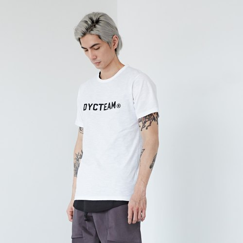 DYCTEAM - 植絨LOGO Slubbed Fabric Tee
