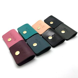 Leather Square Hubs (12 colors / engraving service)