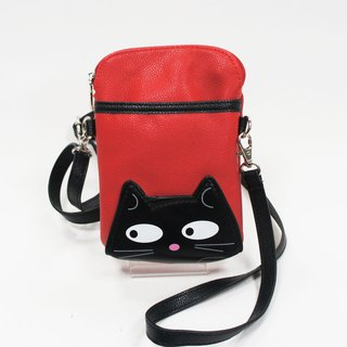 Sleepyville Critters - Black Cat Small Pouch Shoulder Bag