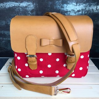 Red Polkadot Mirrorless Camera bag