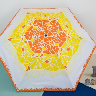 Rainbow House geometry mosaic cooling umbrella (cooling and cooling)