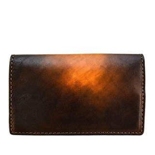 ACROMO Brown Flap Card Holder