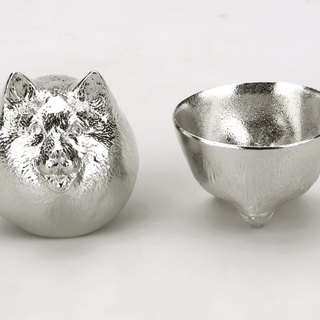 Pure tin zodiac modeling cup (dog)