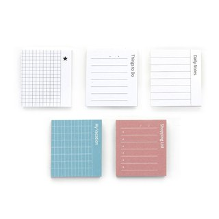 GMZ pastel square crisp index type post-it 5 into group - daily combination package, GMZ07181S