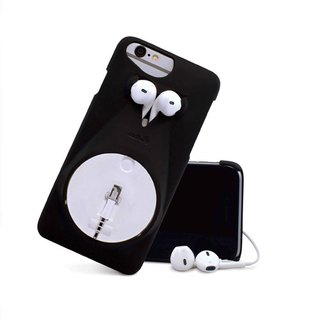 Strong push a good thing │MOUS iPhone Case reel housing [B & W] - a perfect match !!!! phone and headset (only 6 & 6s applicable) ex-gratia !!
