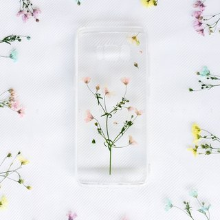 清溪粉满 • Handpressed Flower Phone Case