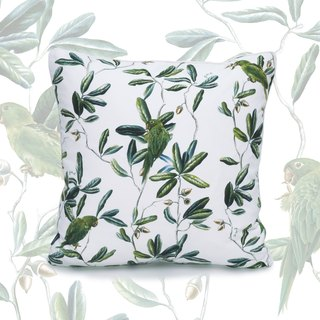 White Parakeet Pillowcase