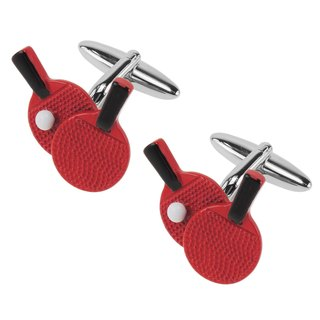 Table Tennis Ping Pong Paddle Cufflinks