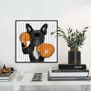 Dissident animal decorative painting MR. Boxing printed fabric painting decorative painting personalized home