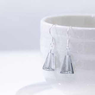 Black and White / Polar Ice Crystal - 925 Silver Swarovski Crystal Earrings