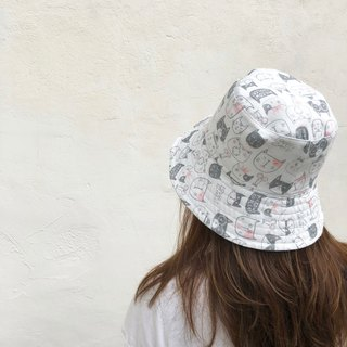 mice and cats / Japanese Gauze / double-sided use bucket hat