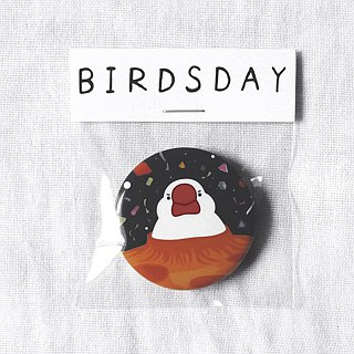 Comet bird badge / badge / pin / brooch