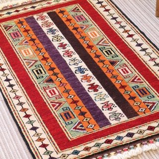 Tipotto pattern hand-woven carpet point lag size doormat wool and plant dyeing 93 × 61cm