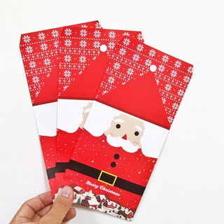 Christmas - Cute Santa / Snowman Postcard Envelope Bag