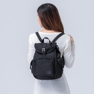 The Dude Brand Hong Kong after the body of water repellent leisure backpack small backpack ultralight Mini Mad - Black