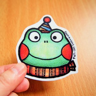 Waterproof sticker - green and green frog