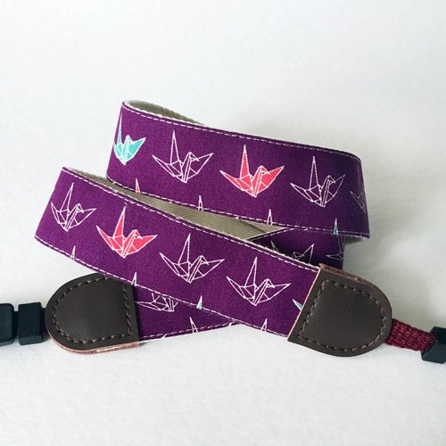Blessed Paper Crane Camera Belt - Purple