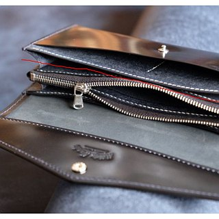 Mildy Hands - LW02 - Long Wallet Long Wallet (Japanese Oil Cordovan Horse Hip)