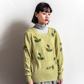 Vintage three-dimensional flower vintage sweater