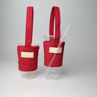 Pu.sozo cloth hand made colorful series - tomato red green cup sets drink cup sets of beverage bags