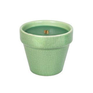 【VIVAWANG】 8.5oz Herbal Ceramics Potted Cup Wax - Window Green
