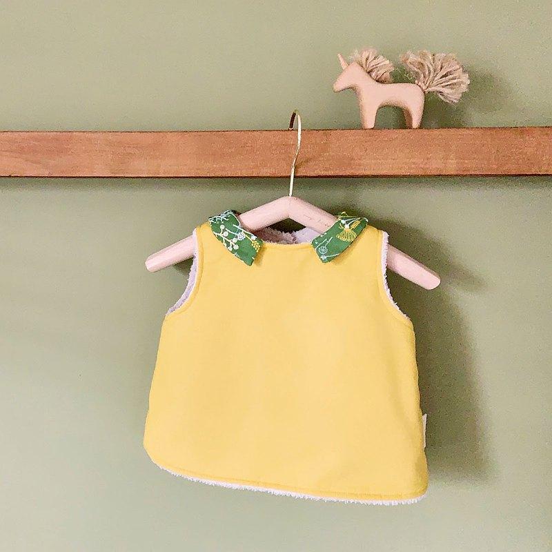 微熱山丘 有機棉手作嬰幼兒背心(鋪棉、短羊絨、羊絨)