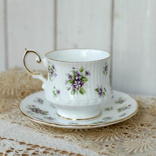 [Good Day Fetish] British vintage Queen's Violet Ceramic Afternoon Tea Cup Set
