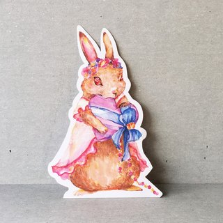 Paper Word Teaser Rabbit Dress Postcard (Giant Card + Envelope)