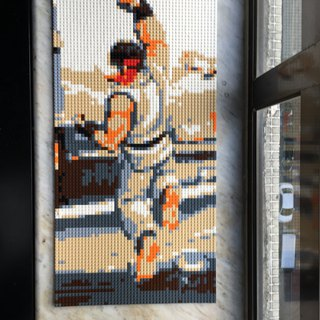 Customised Lego like mosaic puzzle 40x 80cm