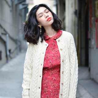 Warm net | vintage sweater coat