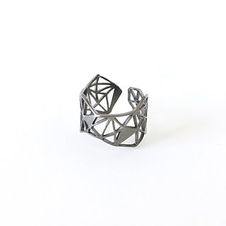 PRISM geometric ring black
