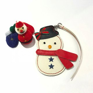 # # # Free Shipping leather bag ornaments - Snowman Snowman
