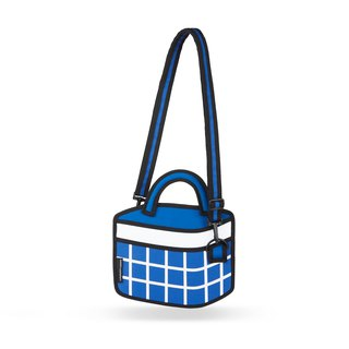 JumpFromPaper Dark Blue Checked Handbag