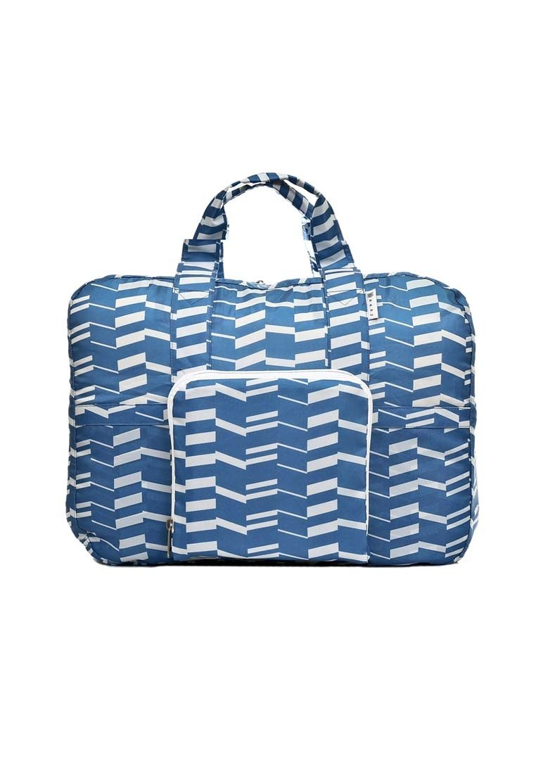 Duffel Travel Bag -- Zig Zag Blue