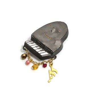 Piano Sonata Pin Brooch PB106