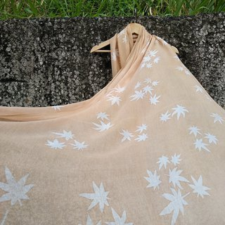Free isvara dyed grass, soft sand, pure cotton rendering scarf, Maple Leaf serie