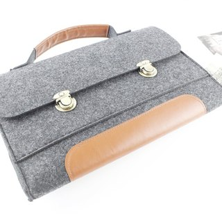 "Original Handmade Dark Gray Blanket Apple Tablet PC Case Blouse Set Macbook Pro Retina 13 ""Computer Bag Macbook 13.3"" Pro Retina (can be tailored) - 013"