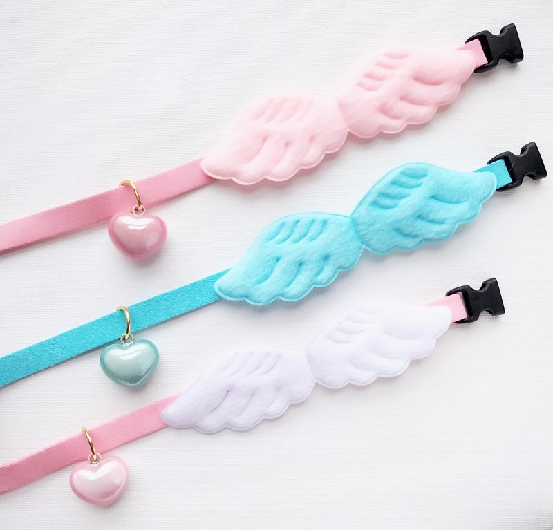 Japanese water instrument reflective pearl bell angel wing pet cat dog collar