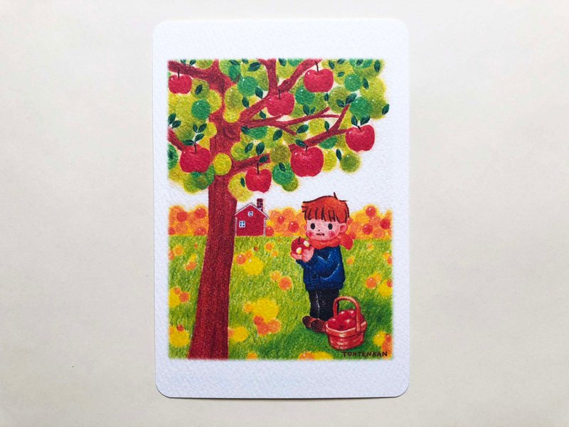 Apple picking postcard no.182