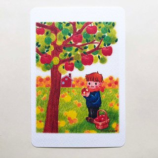 Apple picking ポストカードno.182
