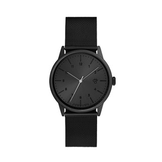 Rawiya Black Dial - Black Milan with Adjustable Watch