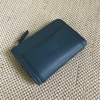 Coin zip purse /Navy blue