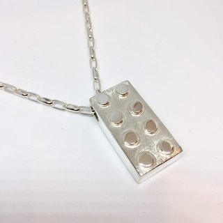 Playful series - modular modeling Silver Necklace