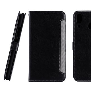 ASUS ZenFone 5 Front Retractable Side Lift Leather Case - Black (4716779659603)