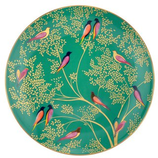 Sara Miller London for Portmeirion Chelsea Collection Cake Plate - Dark Green