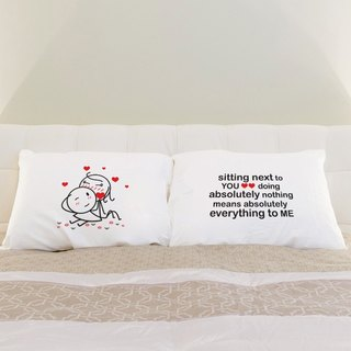 Sitting with You White Couple Pillowcases Set of 2