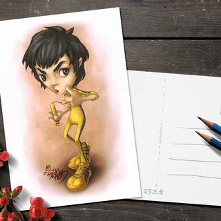 Postcard - Bruce Lee (cute version)