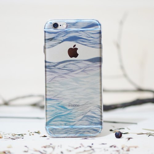Primary series phone case - indigo cloud